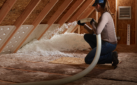 attic insulation woman